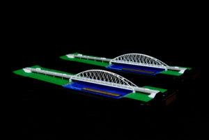 páros híd makett